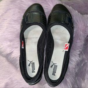 Puma Shoes - Puma black leather slip on size 7